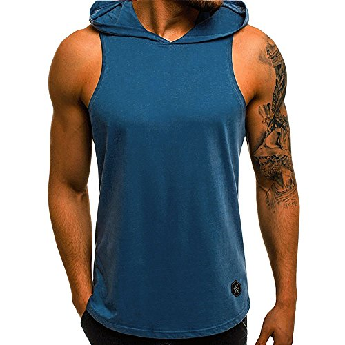 Tank Tops Mens Summer Letter Printed Slim Sleeveless Vest Blouse by Gergeos