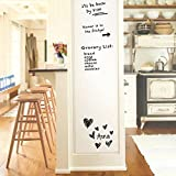 "#5: Iwolkon Self-Adhesive Whiteboard Wall Decal Sticker, 78.7"" × 17.7"" Premium Extra Large Strong and Durable Dry Erase Wall Paper Message Board for Kids, Office, School & Home With 1PCS Marker Pen"