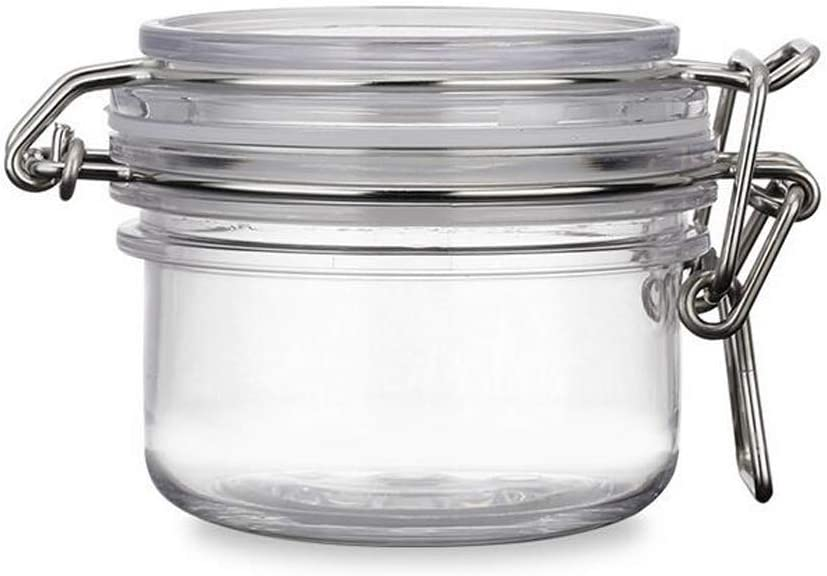 120g(4oz) Round Clear Acrylic Latch Lid Cosmetic Storage Hermetic Jars Pack of 1 pcs Very Beautiful Xmas Gift (4 oz)