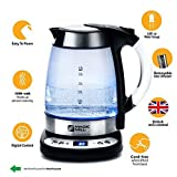 MAGIC MILL Digital Electric Cordless Kettle with Removable Tea Infuser, Speed boil 1500 Watt, Equipped with British Strix Control Element for total safety