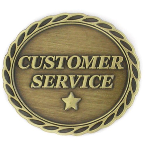 PinMart's Antique Bronze Customer Service Corporate Star Award Lapel Pin by PinMart