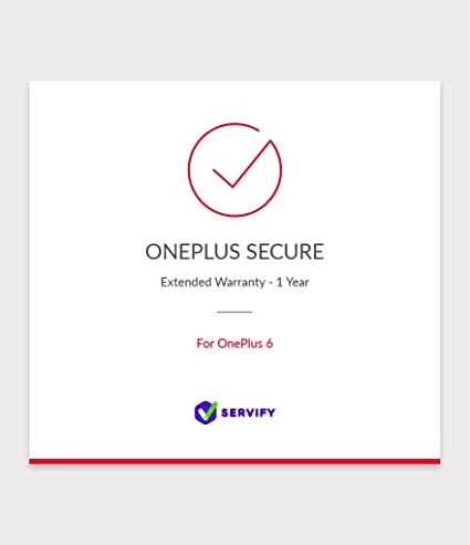 OnePlus Secure 1 Year Extended Warranty Plan for OnePlus 6 128GB