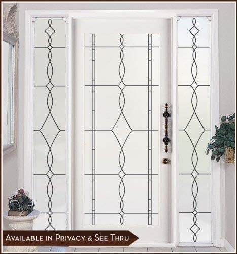 Allure Black Leaded Glass Privacy Static Cling Window Film – 16 x 86