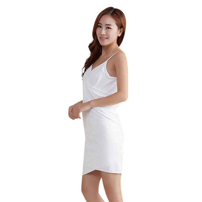 Amazon.com: Memela(TM)Women Bath Dress Wearable Microfiber Towel Bathrobe Wrap Ladies Spa Bath Towel (Blue): Home & Kitchen