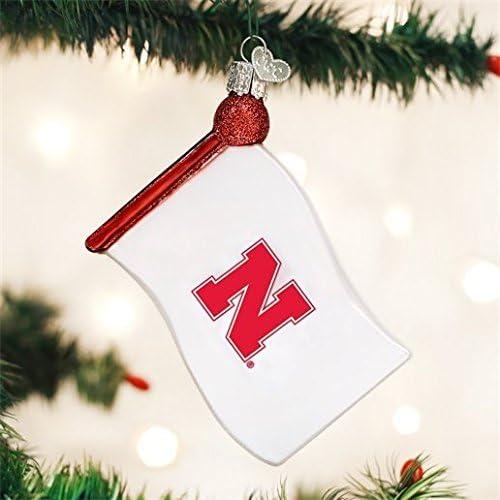Old World Christmas Nebraska Beanie Glass Blown Ornament