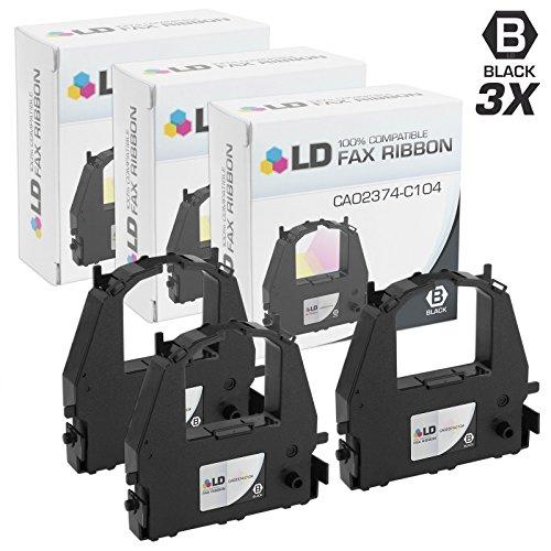 LD Compatible Printer Ribbon Cartridge Replacement for Fujitsu CA02374-C104 (Black, 3-Pack)