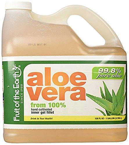 Fruit Of The Earth Aloe Vera, 128 Fluid Ounce (1 Gallon) (3 packs)