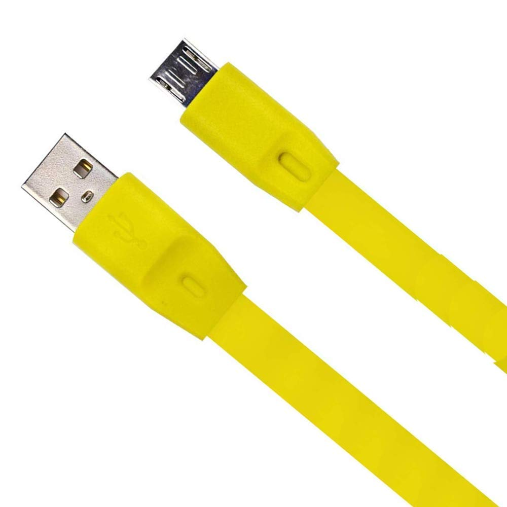 Meiso Replacement Charger Cable Cord Compatible with Logitech UE Boom//UE Boom 2// Megaboom//Miniboom//Roll Wireless Speaker Yellow
