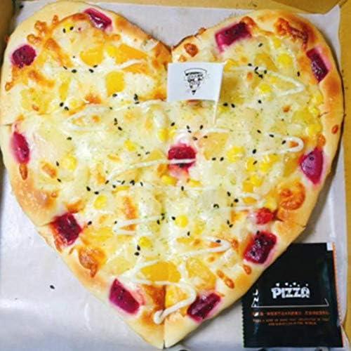ピザプレート6インチ8インチピザトレイオーブン焼き型ベーキングツールは、ハート型の防水アルミ合金 (Size : Small)