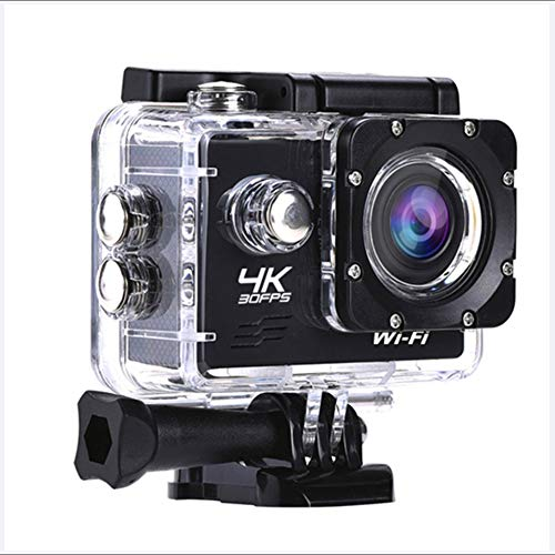 LoMe Action Camera 4K 16MP Waterproof Cam 30M Underwater Camera 170°Wide View Angle 2.0 Inch LCD Screen Supports HDMI Output