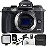 Canon EOS M5 Mirrorless Digital Camera (Body Only) 8PC Bundle – Includes 64GB SD Memory Card, LED Video Light, Carrying Case, More – International Version (No Warranty) Review