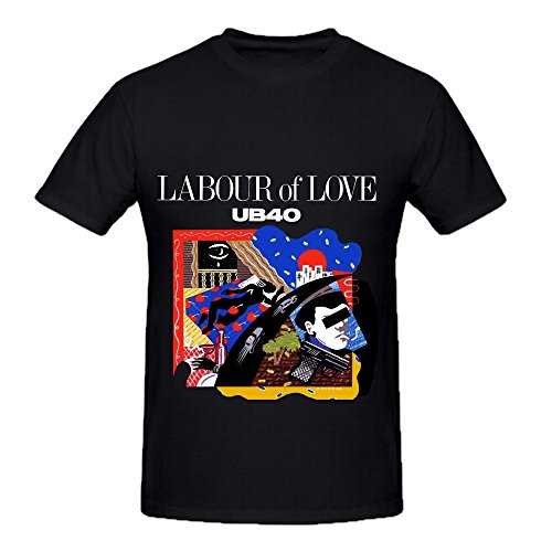 Ub40 Labour Of Love Jazz Mens Crew Neck DTG T Shirts Black