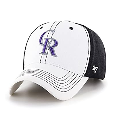 "Colorado Rockies 47 Brand MLB ""Cooler MVP"" Structured Adjustable 2 Tone Hat"