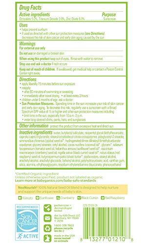 Babyganics Mineral-Based Baby Sunscreen Lotion, SPF 50, 6oz Tube