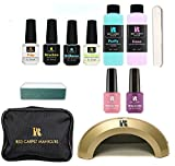 Red Carpet Manicure Cinderella 5 Color LED Gel Nail Polish Kit Set with Travel Bag