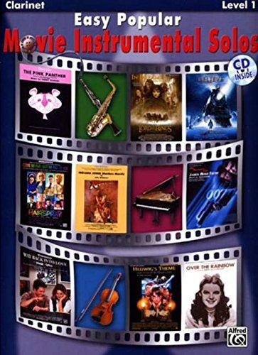 Easy Popular Movie Instrumental Solos: Clarinet, Book & CD (Easy Instrumental Solos)
