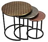 Cheap Bare Decor Georgia Metal Nesting End Tables, Set of 3