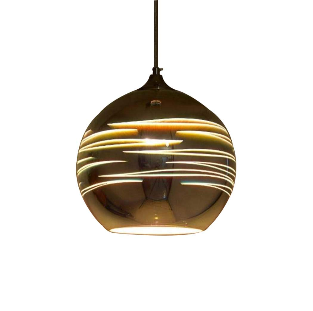 GAOLIQIN LED Pendant Lamp,3D Stained Glass Chandelier, Postmodern Creative Restaurant Cafe Bar Clothing Store Decorative Pendant Lights (Color : B, Size : 25CM)