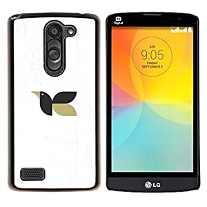 YiPhone /// Prima de resorte delgada de la cubierta del caso de Shell Armor - pájaro subiendo - LG L Prime D337 / L Bello D337