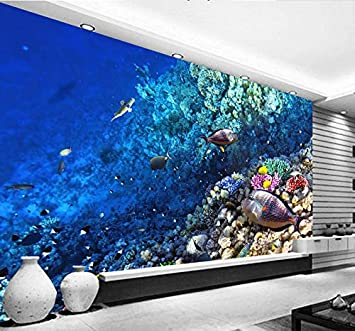 Amazon Com Photo Wallpaper 3d Stereo Underwater Animal Of Marine Fish Living Children S Room Tv Background Wall Sticker 155 X 110 394 X 280 Cm Home Improvement