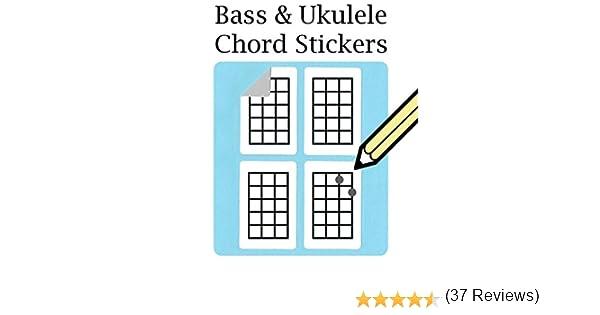 Pegatinas de graves, acordes de Ukelele y tablatura para dedos ...