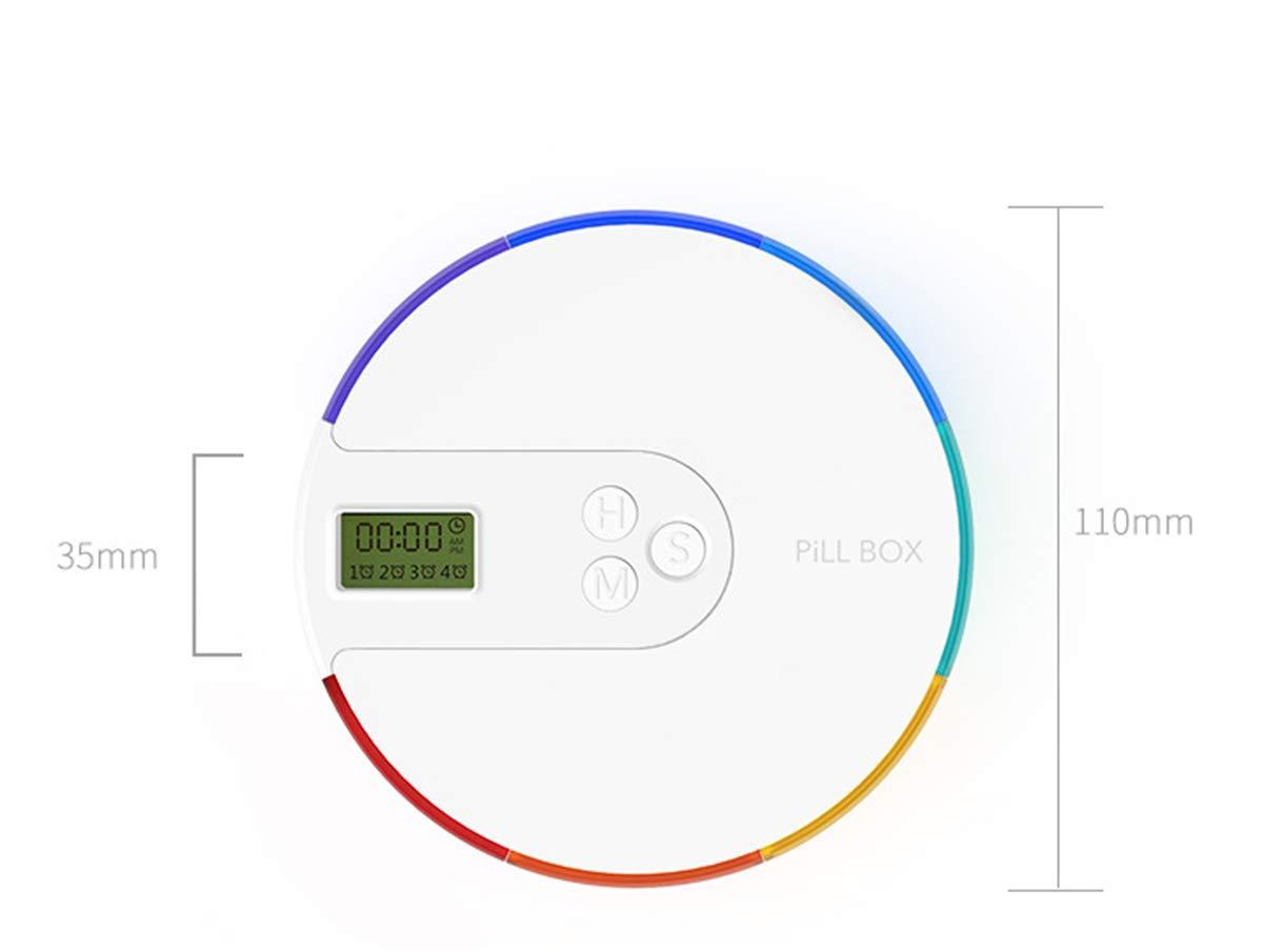 BrilliantDay Portapillole Elettronico Scatola Della Pillola con 7 Scomparti Dispenser automatico pillola con Orario e Sveglia Portatile per Viaggio Campeggio Lavoro#2