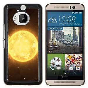 LECELL--Funda protectora / Cubierta / Piel For HTC One M9Plus M9+ M9 Plus -- Sun Star Amarillo Espacio Universo Burning Planet --