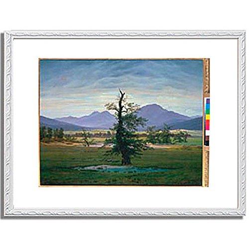 カスパーダヴィッドフリードリヒ「Der einsame Baum (Dorflandschaft bei Morgenbeleuchtung) (see also image number 1433. 1823. 」 インテリア アート 絵画 プリント 額装作品 フレーム:装飾(白) サイズ:M (306mm X 397mm) B00NKRORBI 2.M (306mm X 397mm)|6.フレーム:装飾(白) 6.フレーム:装飾(白) 2.M (306mm X 397mm)