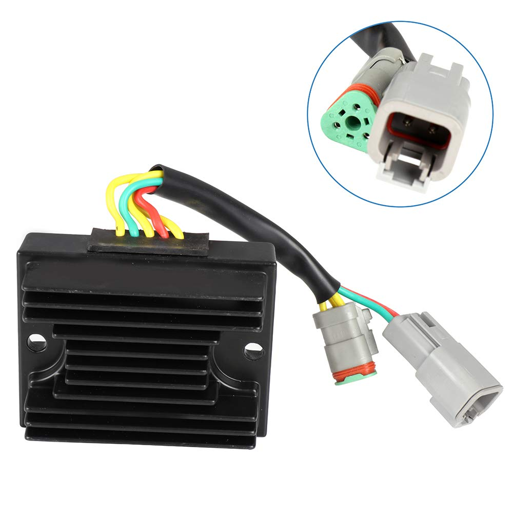 ECCPP Voltage Regulator Rectifier Fit for 06-07 Sea-Doo 3D 05-06 Sea-Doo GTI 2007 Sea-Doo GTI 4TEC 2002-2007 Sea-Doo GTX 4TEC 2005-2006 Sea-Doo RXP 2005-2007 Sea-Doo RXT 278001969 Rectifier Regulator