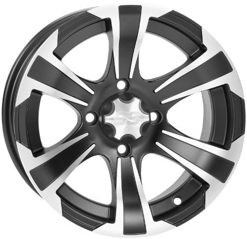 16-17 HONDA PIONEER1K-5: ITP SS312 Wheel (Front / 12X7) (Machined Black)
