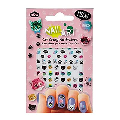 Cat Fan related Products NPW Nail Art Stickers, Various Sizes, Cat Crazy [tag]