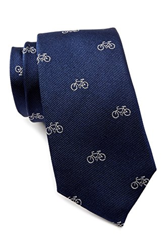 Ben Sherman Kacey Bike Silk Tie - Navy