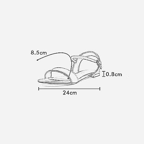 YQQ Zapatos De Playa Solo Zapato Femenino Zapatos Planos Tacones Bajos Zapatos Casuales Zapatos De Vacaciones Primavera Verano Acogedor Moda (Color : Negro, ...