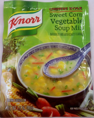 Knorr Vegetable Soup Mix (Knorr Sweet Corn Vegetable Soup Mix - 47g., 1.6oz. (Pack of 5))
