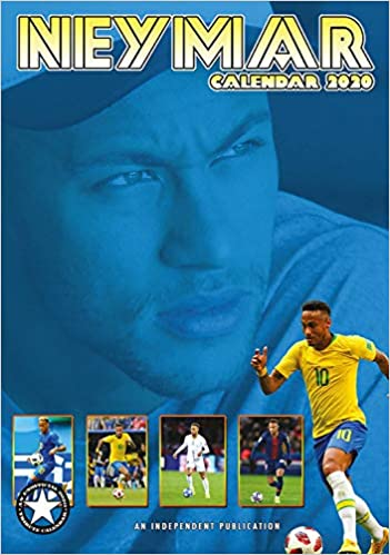 Soccer Calendar 2020 Neymar Celebrity Calendar   Calendars 2019   2020 Wall