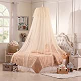 Are There Beds Bigger Than King Size SIOFSVDFDFASDD Children's mosquito nets,Princess style pink mosquito nets Sweet girl mosquito nets Thick circular ceiling european style free installation camping mosquito net-B Full-size