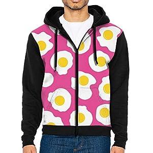 BINGGOO Food Egg Zipper Workout Hoodie Sweat Shirt Sweater For Men's Pullover Hoodie Raglan