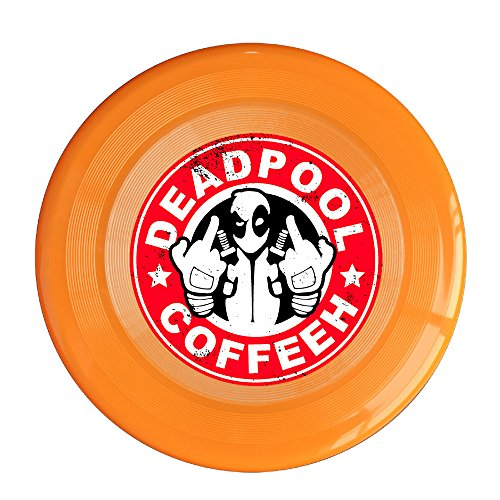 YYHU - Plastic Deadpool Coffee Flying Discs - Orange
