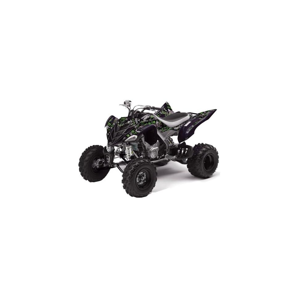Silver Star AMR Racing Yamaha Raptor 700 ATV Quad Graphic Kit   Silverhaze B