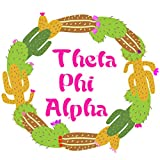 Theta Phi Alpha Sorority Circle Cactus Sticker Decal Exclusively Designed 3 Inch Greek for Window Laptop Computer Car Officially Licensed