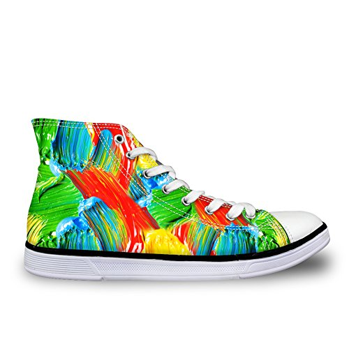 Bigcardesigns 35-45 Punti Eleganti Scarpe Da Skate High Top Sneakers Di Tela Multicolor 5