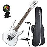 Ibanez Steve Vai JEM JR White Full Size Electric Guitar w/ Gig Bag, Tuner, and Stand