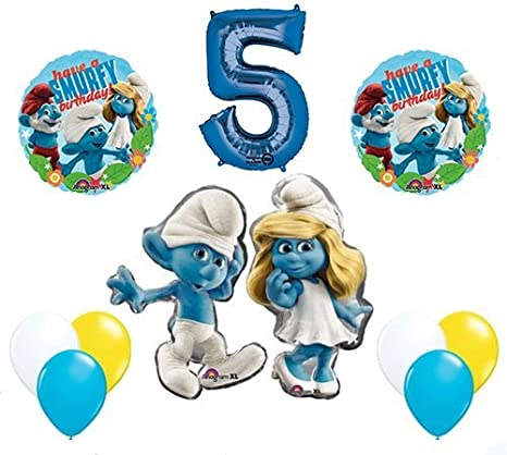 Amazon Com The Smurfs Birthday Party Supplies Smurf And Smurfette