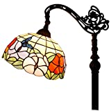 Tiffany Style Floor Reading Lamp Butterfly for Home Table Desk Lighting W12 H64 Inch
