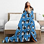 """WdRaIn Border Collie Dog Cute Blanket Flannel Fleece Blanket Soft Microfiber Blanket for Sofa Office Bed and Travelling 60""""x50"""" 10"""