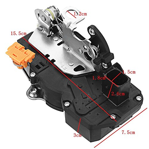 Power Door Yukon Lock Actuator - Ensun 15785128 Door Latch Lock Actuator Assembly Rear Left Driver Side for Chevy GMC Cadillac Ref# 931-108
