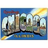 Greetings from Chicago Illinois Fridge Magnet