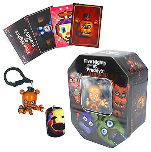 (Five Nights at Freddy's Collectable Dog Tag Trading Card and Key Chain Tin Set)