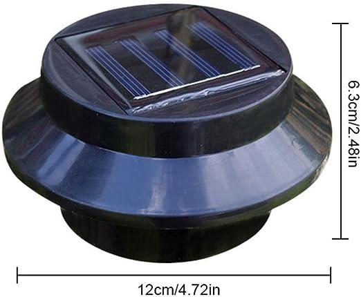 Kobwa - Luz de seguridad para valla, 3 LED, funciona con energía solar, 5 W, impermeable, para jardín, iluminación automática en la noche, apto para dormitorios, pasillos, entradas, patios (luz de cálculo):
