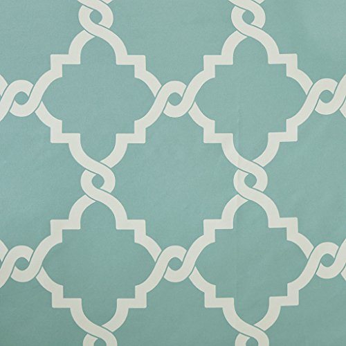 Madison Park Merritt Shower Curtain Aqua 72x72